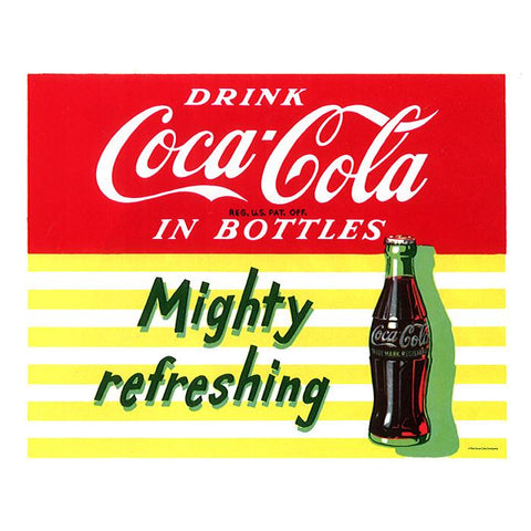 Trademark Commerce cokeD0096-C1822GG Mighty Refreshing Stretched Canvas Print  18x22 Inch - Peazz.com