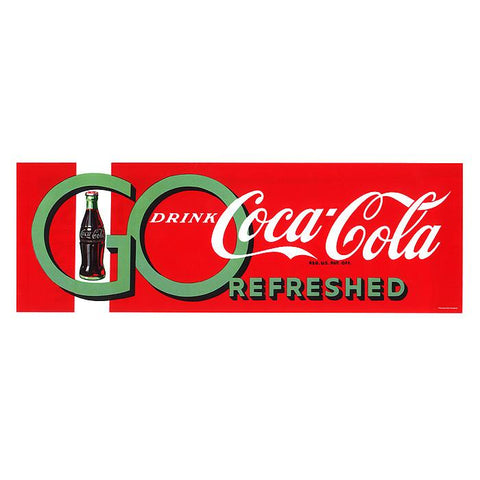 Trademark Commerce cokeD0100-C1232GG Go Drink Coke Stretched Canvas  12x32 Inch - Peazz.com