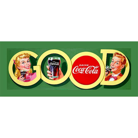 Trademark Commerce cokeW2085-C1236GG Good Coke Stretched Canvas Print  - 12x36 Inch - Peazz.com