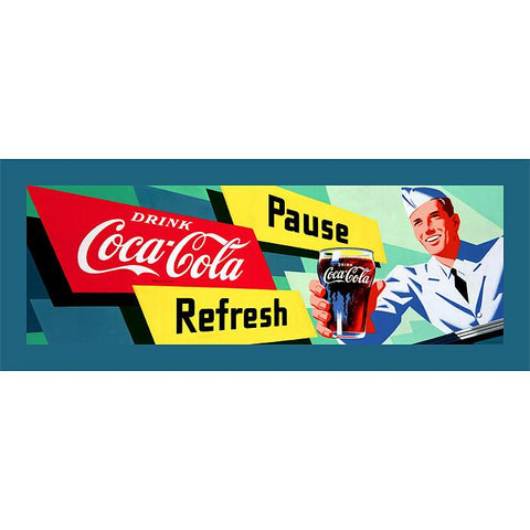 Trademark Commerce cokeW2091-C1236GG Coke Waiter 12x36 Inch Stretched Canvas Print - Peazz.com