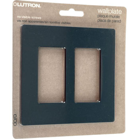 Lutron Cw-1B-Bl Lutron Claro Single Gang Rocker Wallplate - Black - Peazz.com