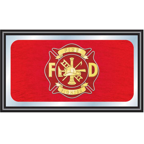 Trademark Commerce FF1500 Fire Fighter Wood Framed Mirror BIG 15 x 26 inches - Peazz.com