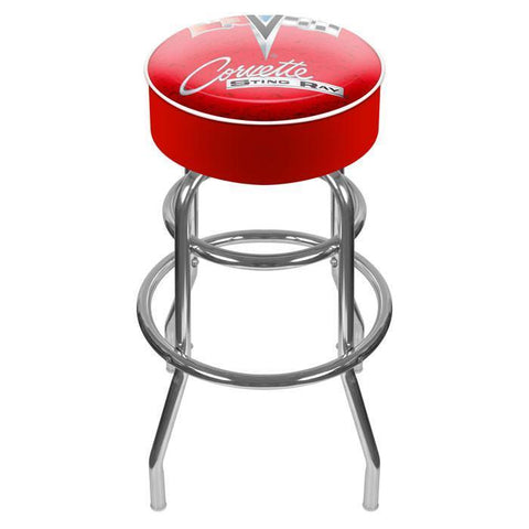 "31"" Gm1000R-C2-Cor Corvette C2 Red Padded Swivel Bar Stool"