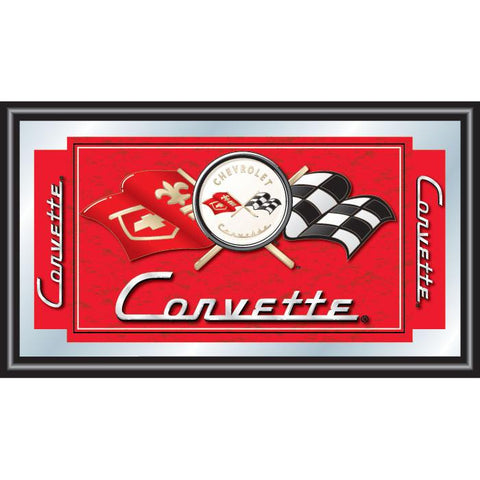 Trademark Commerce GM1500R-C1-COR Corvette C1 Framed Mirror - Red - Peazz.com