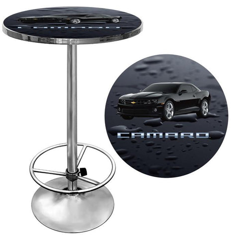 Trademark Commerce GM2000-CAM-BLK Black Camaro Pub Table - Peazz.com