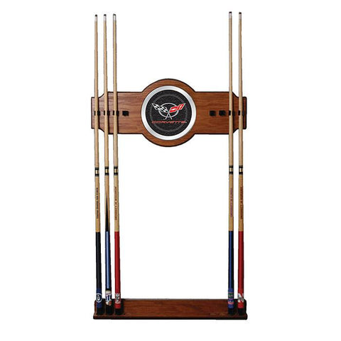 Trademark Commerce GM6000-C5-COR Corvette C5 2 piece Wood and Mirror Wall Cue Rack - Peazz.com