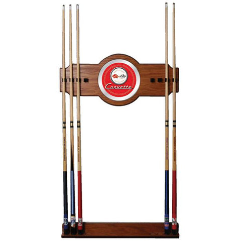 Trademark Commerce GM6000R-C1-COR Corvette C1 2 piece Wood and Mirror Wall Cue Rack - Red - Peazz.com