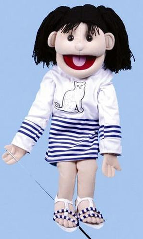 "28"" Girl Puppet w/ Cat Shirt - Peazz.com"