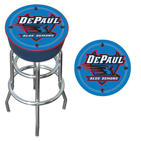 Trademark Commerce LRG1000-DeP DePaul University Padded Bar Stool - Peazz.com
