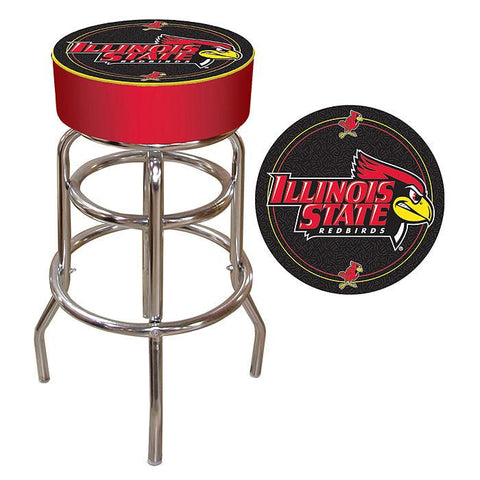 Trademark Commerce LRG1000-ILST Illinois State University Padded Bar Stool - Peazz.com