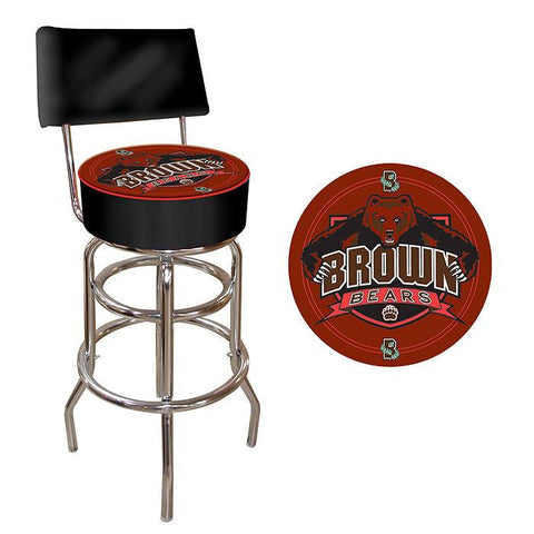 Trademark Commerce LRG1100-BRU Brown University Padded Bar Stool with Back - Peazz.com