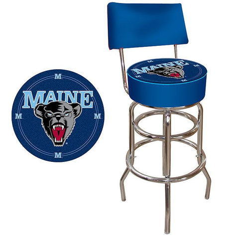 Trademark Commerce LRG1100-ME University of Maine Padded Bar Stool with Back - Peazz.com
