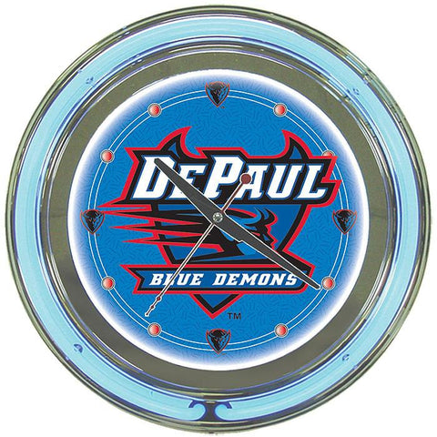Trademark Commerce LRG1400-DeP DePaul University Neon Clock - 14 Inch Diameter - Peazz.com