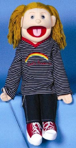 "28"" God's Promises Girl Puppet - Peazz.com"