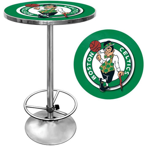Trademark Commerce NBA2000-BC Boston Celtics NBA Chrome Pub Table - Peazz.com