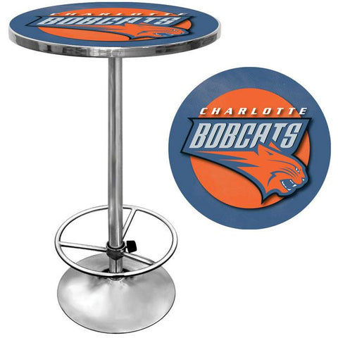 Trademark Commerce NBA2000-BOB Charlotte Bobcats NBA Chrome Pub Table - Peazz.com
