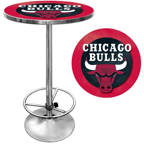 Trademark Commerce NBA2000-CB Chicago Bulls NBA Chrome Pub Table - Peazz.com