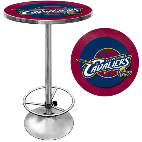 Trademark Commerce NBA2000-CC Cleveland Cavaliers NBA Chrome Pub Table - Peazz.com