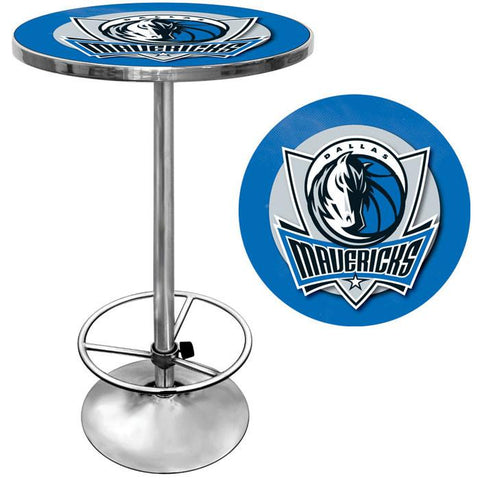 Trademark Commerce NBA2000-DM Dallas Mavericks NBA Chrome Pub Table - Peazz.com