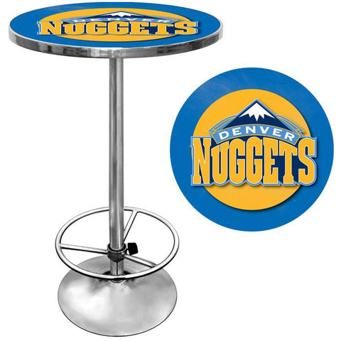 Trademark Commerce NBA2000-DN Denver Nuggets NBA Chrome Pub Table - Peazz.com