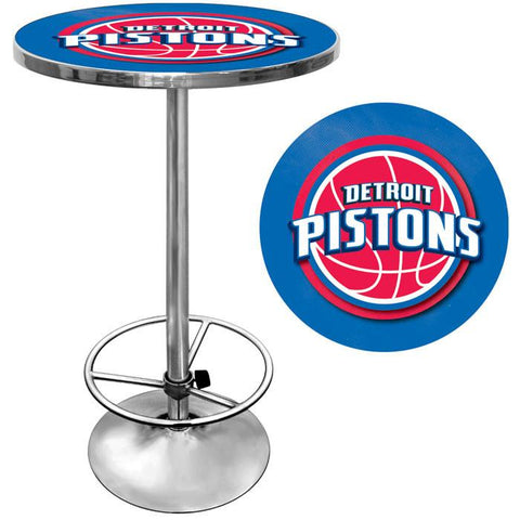 Trademark Commerce NBA2000-DP Detroit Pistons NBA Chrome Pub Table - Peazz.com