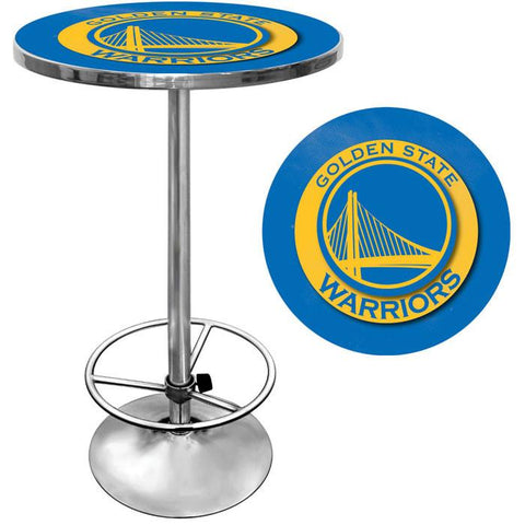 Trademark Commerce NBA2000-GSW Golden State Warriors NBA Chrome Pub Table - Peazz.com
