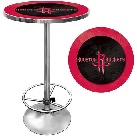 Trademark Commerce NBA2000-HR Houston Rockets NBA Chrome Pub Table - Peazz.com
