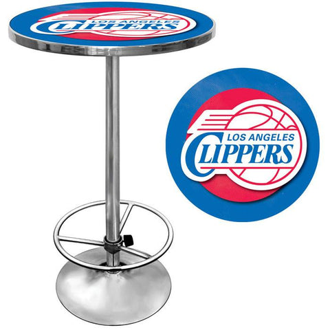Trademark Commerce NBA2000-LAC Los Angeles Clippers NBA Chrome Pub Table - Peazz.com