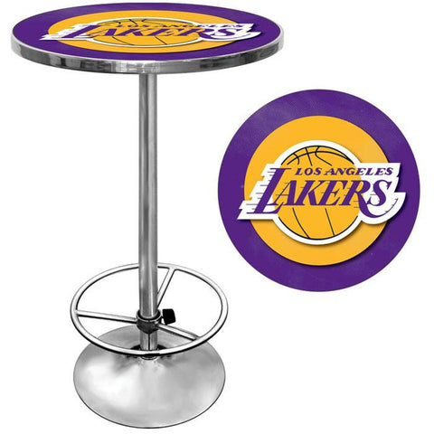 Trademark Commerce NBA2000-LAL Los Angeles Lakers NBA Chrome Pub Table - Peazz.com