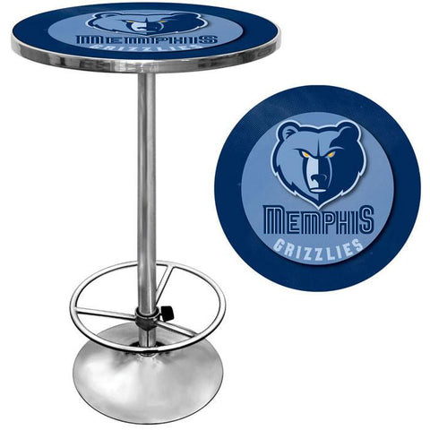 Trademark Commerce NBA2000-MG Memphis Grizzlies NBA Chrome Pub Table - Peazz.com