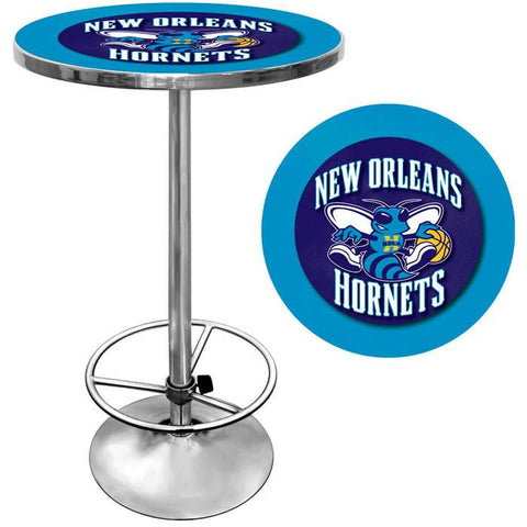Trademark Commerce NBA2000-NOH New Orleans Hornets NBA Chrome Pub Table - Peazz.com