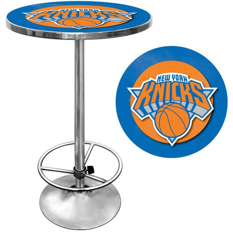 Trademark Commerce NBA2000-NY New York Knicks NBA Chrome Pub Table - Peazz.com