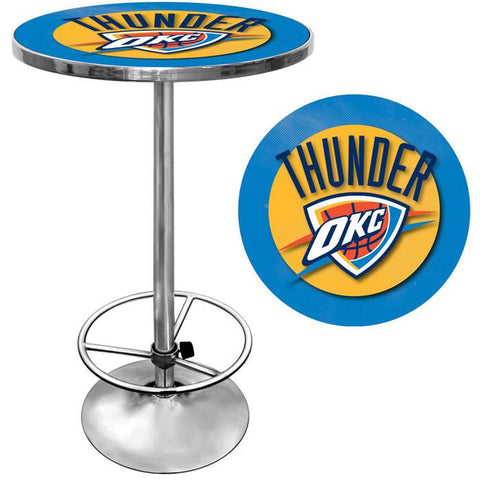 Trademark Commerce NBA2000-OCT Oklahoma City Thunder NBA Chrome Pub Table - Peazz.com