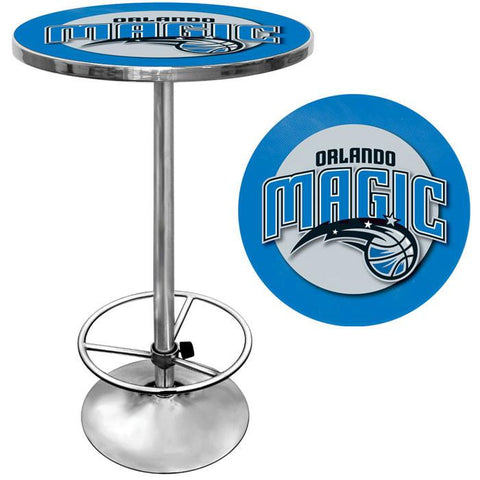 Trademark Commerce NBA2000-OM Orlando Magic NBA Chrome Pub Table - Peazz.com