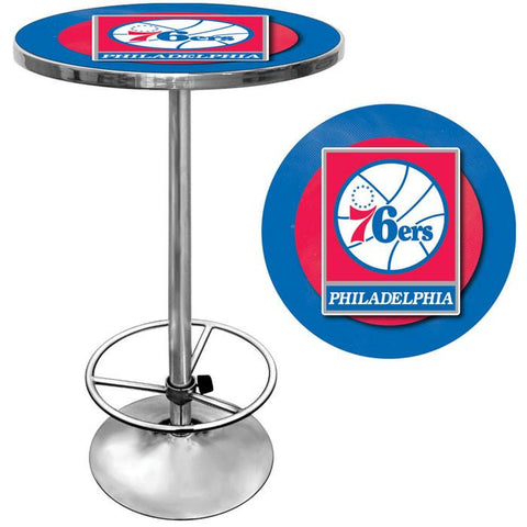 Trademark Commerce NBA2000-PH Philadelphia 76ers NBA Chrome Pub Table - Peazz.com