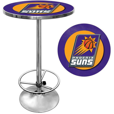 Trademark Commerce NBA2000-PS Phoenix Suns NBA Chrome Pub Table - Peazz.com