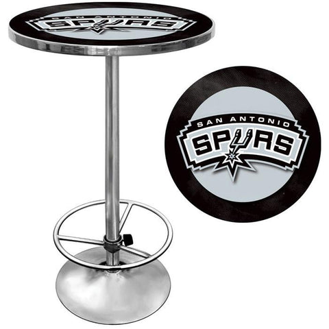 Trademark Commerce NBA2000-SAS San Antonio Spurs NBA Chrome Pub Table - Peazz.com
