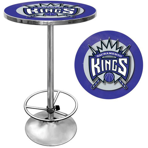 Trademark Commerce NBA2000-SK Sacramento Kings NBA Chrome Pub Table - Peazz.com