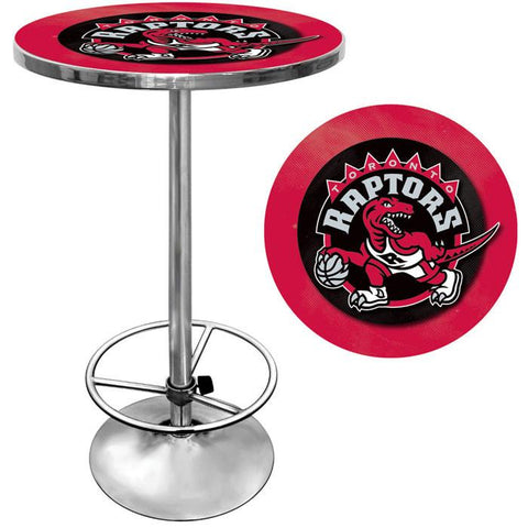 Trademark Commerce NBA2000-TR Toronto Raptors NBA Chrome Pub Table - Peazz.com