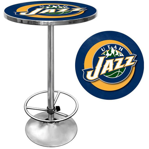 Trademark Commerce NBA2000-UJ Utah Jazz NBA Chrome Pub Table - Peazz.com