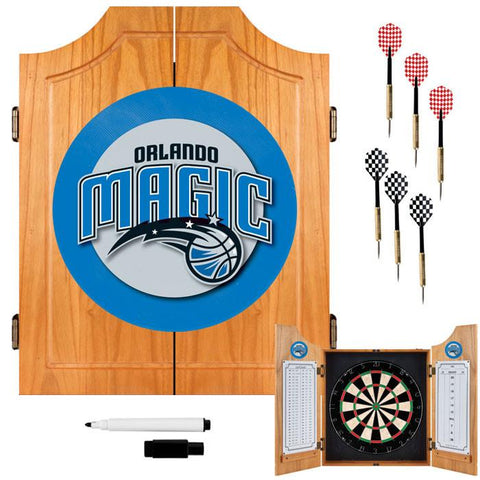 Trademark Commerce NBA7000-OM Orlando Magic NBA Wood Dart Cabinet Set - Peazz.com