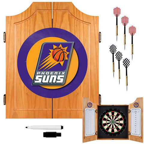 Trademark Commerce NBA7000-PS Phoenix Suns NBA Wood Dart Cabinet Set - Peazz.com