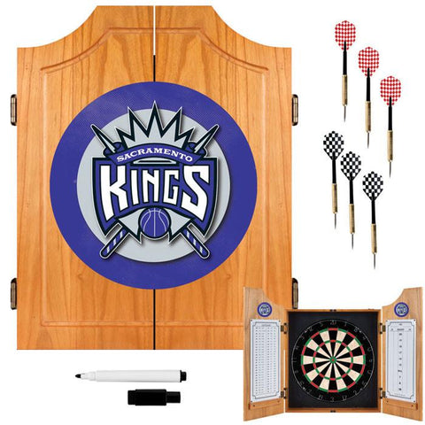 Trademark Commerce NBA7000-SK Sacramento Kings NBA Wood Dart Cabinet Set - Peazz.com