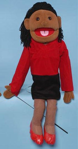 "28"" Mom Puppet Black - Peazz.com"