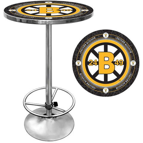 Trademark Commerce NHL2000-BBV NHL Vintage Boston Bruins Pub Table - Peazz.com