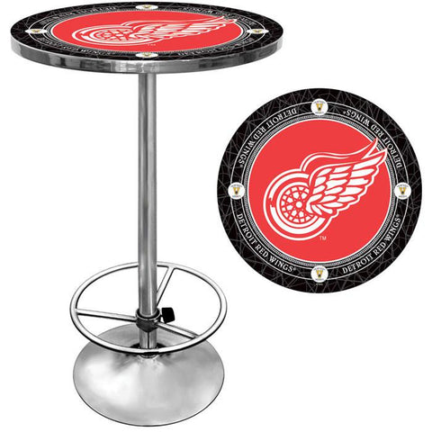 Trademark Commerce NHL2000-DRV NHL Vintage Detroit Redwings Pub Table - Peazz.com