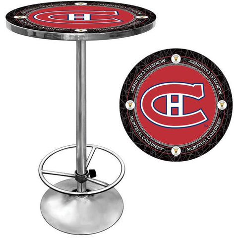 Trademark Commerce NHL2000-MCV NHL Vintage Montreal Canadiens Pub Table - Peazz.com