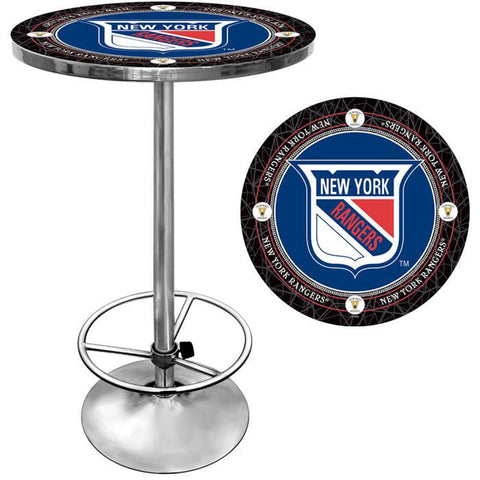 Trademark Commerce NHL2000-NYRV NHL Vintage New York Rangers Pub Table - Peazz.com