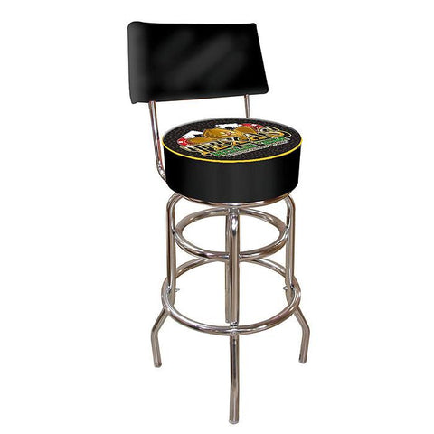 Trademark Commerce THX1100 Texas Holdem Padded Bar Stool with Back - Peazz.com