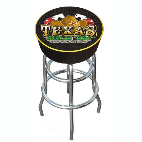 Trademark Commerce TXH1000 Texas Hold 'em Logo Padded Bar Stool - Peazz.com